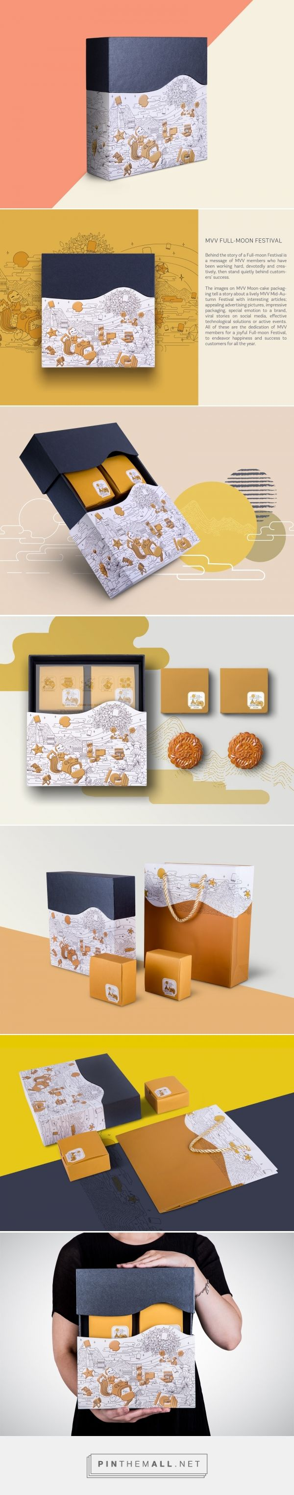 MVV Moon-cake Packaging - Packaging of the World - Creative Package Design Gallery - http://www.packagingoftheworld.com/2016/09/mvv-moon-cake-packaging.html