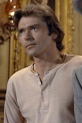 Peter Duel in Alias Smith and Jones with a mad look