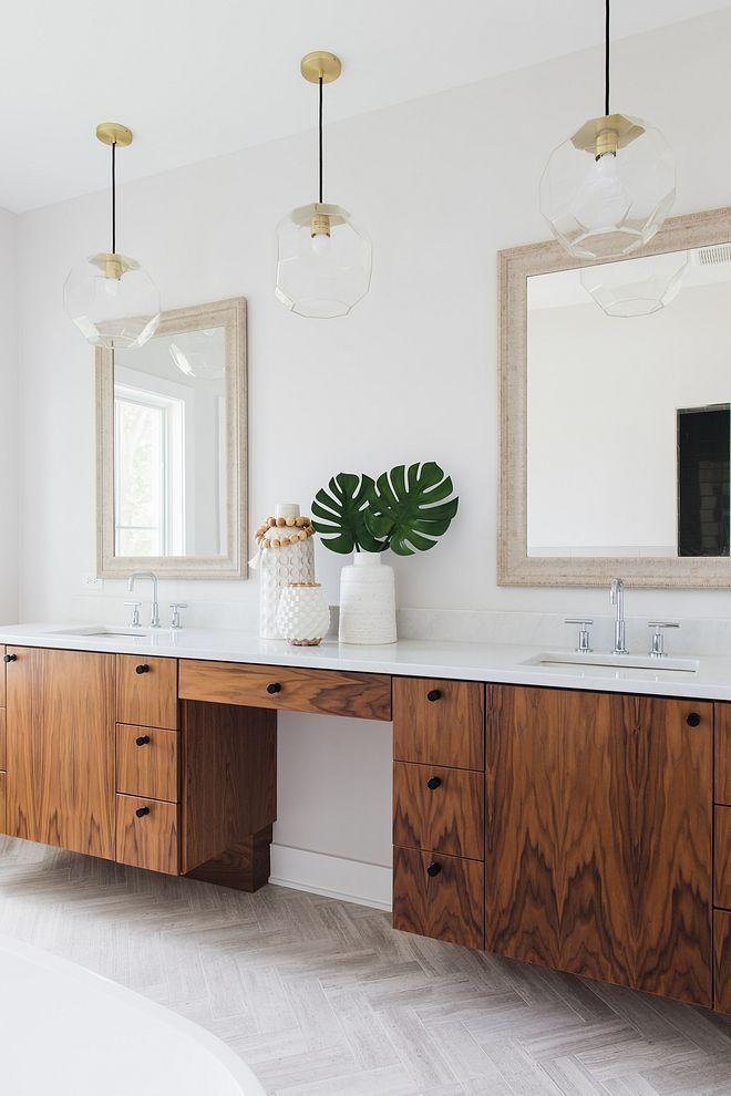 Floating Walnut Bathroom Vanity Bathrooms Bathroom Ideas Bathroom Decor Ideas Bathroom Vanity Id Bathroom Vanity Decor Bathrooms Remodel Walnut Cabinets