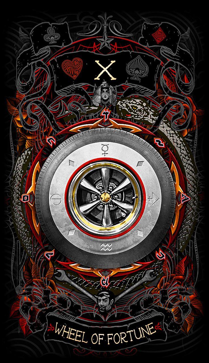 29 best psychobilly tarot card art images on pinterest game the wheel of fortune major arcana card httpskickstarter buycottarizona