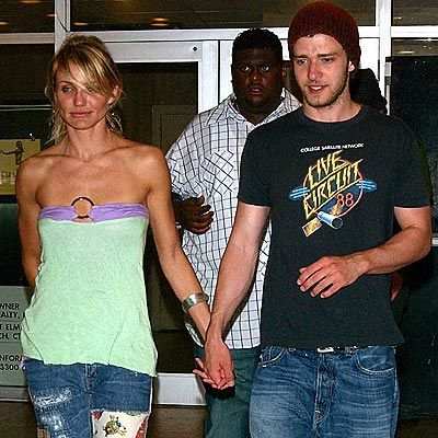 8 of 15 Cameron Diaz & Justin Timberlake (she is 8 years older than him) 2003 - 2006