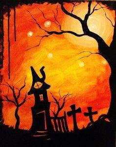 6th graders spooky art