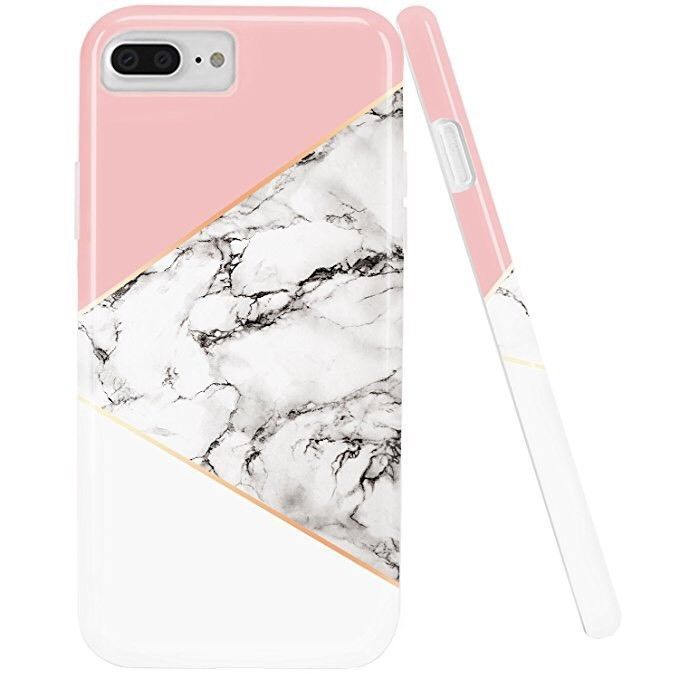 half off e5465 3f0e6 iPhone 7 Case,iPhone 8 Case,DOUJIAZ Marble Design Geometric Anti ...
