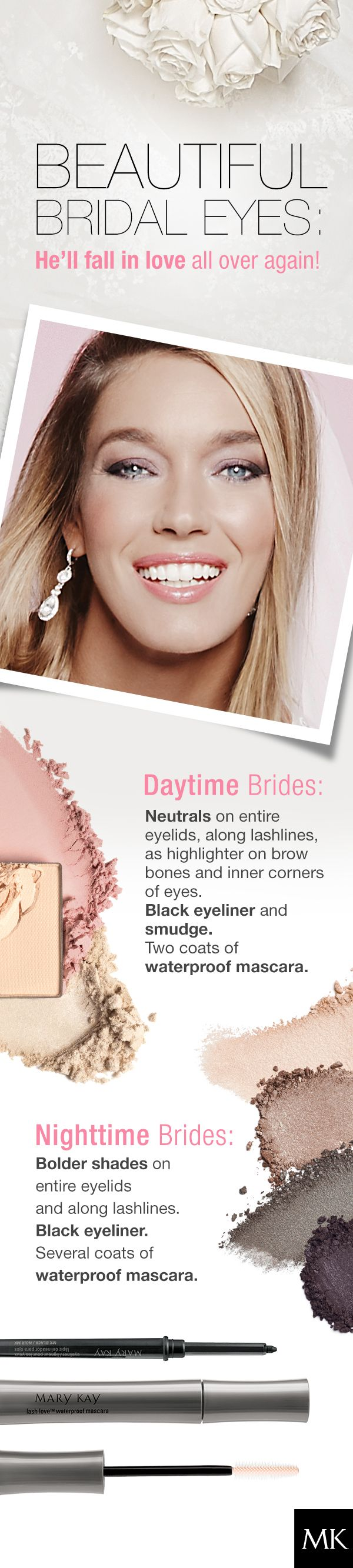 What's your look on your BIG DAY?? Classic...Romantic....Glam?? Check out our e-catalog exclusively featuring everything bridal!! www.marykay.com/tmaier1