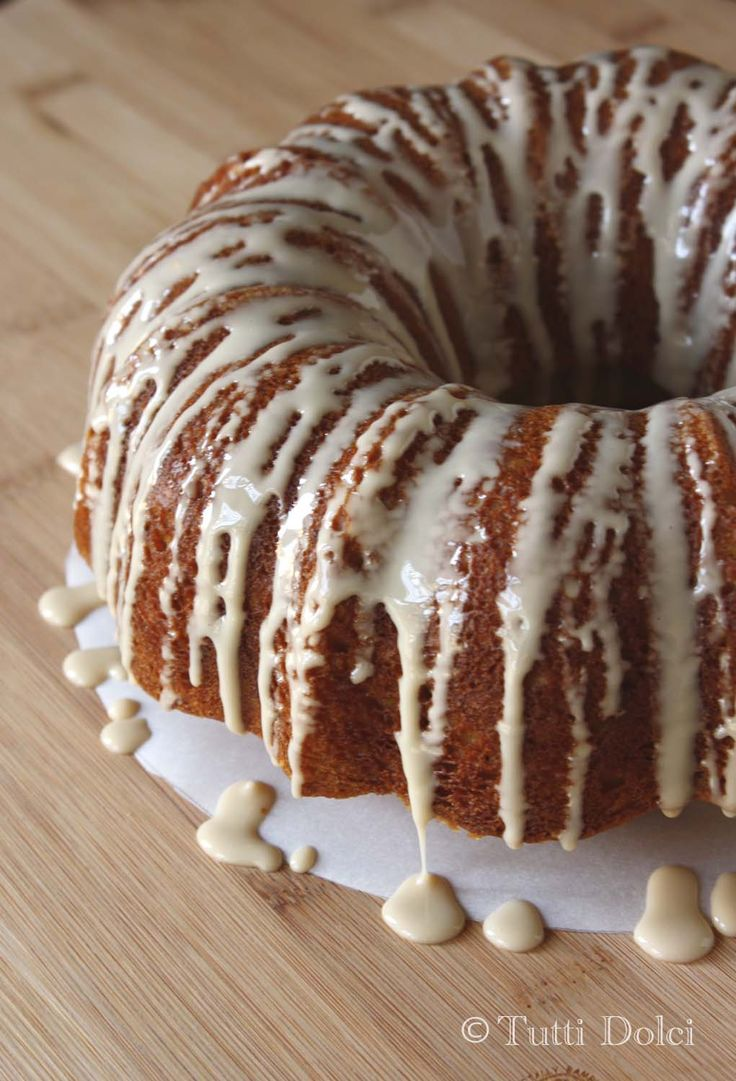 Browned butter bundt cake looks really good but a little messy