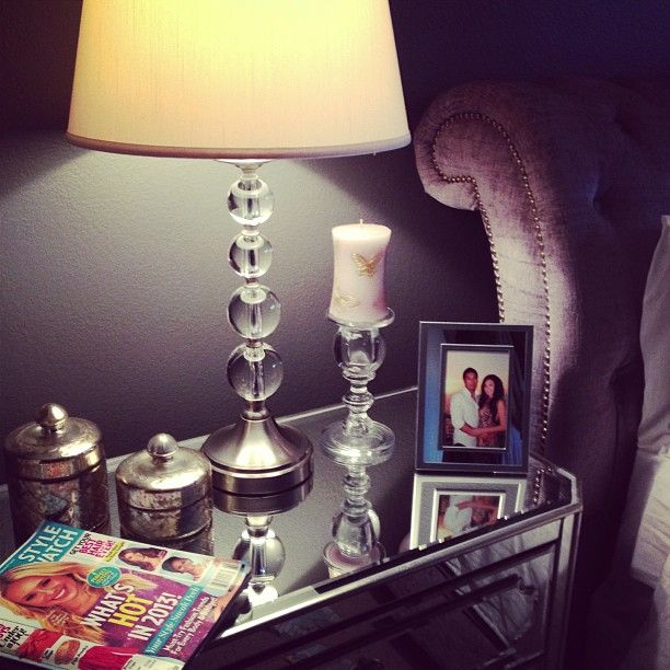 Roxy Limon shows how she styled her Z Gallerie Simplicity mirrored nightstand.