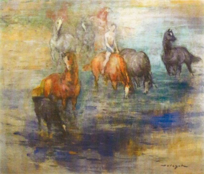 Fiú lovakkal