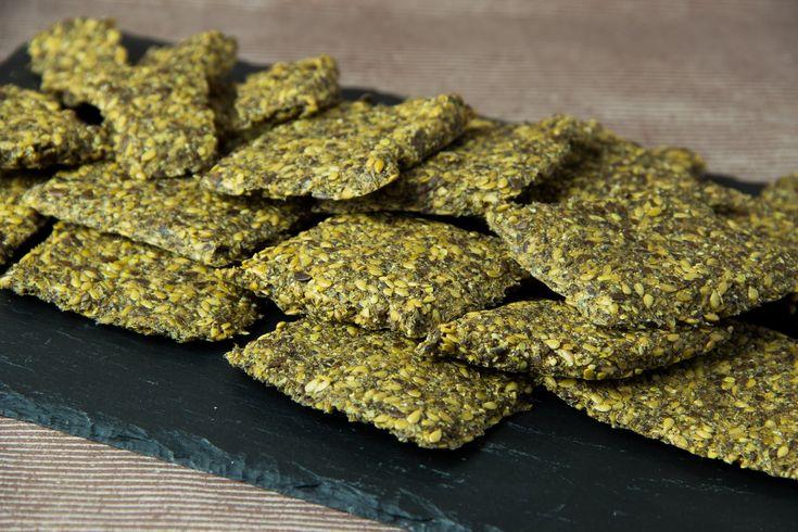 Knäckebrot Low Carb - glutenfreies Knäckebrot - veganes Knäckebrot