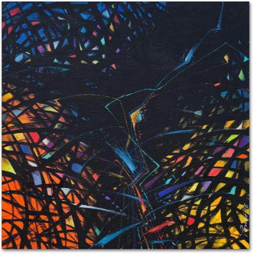 «Fractals-002» Akryl på lerret - 102x102 cm Pris - kr 9.800,- Tilgjengelig også på papir, akryl- og aluplater. Kunstner - Youri Ivanov