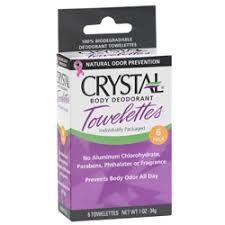 BN (10 individual use packets) crystal deodorant towelettes