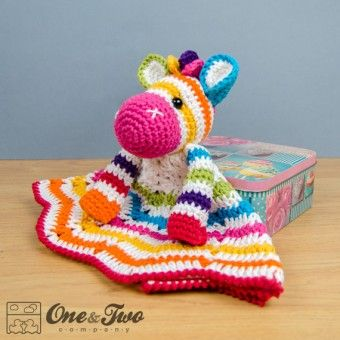 Rainbow Zebra Security Blanket Crochet Pattern - might have to buy this one, its super cute!