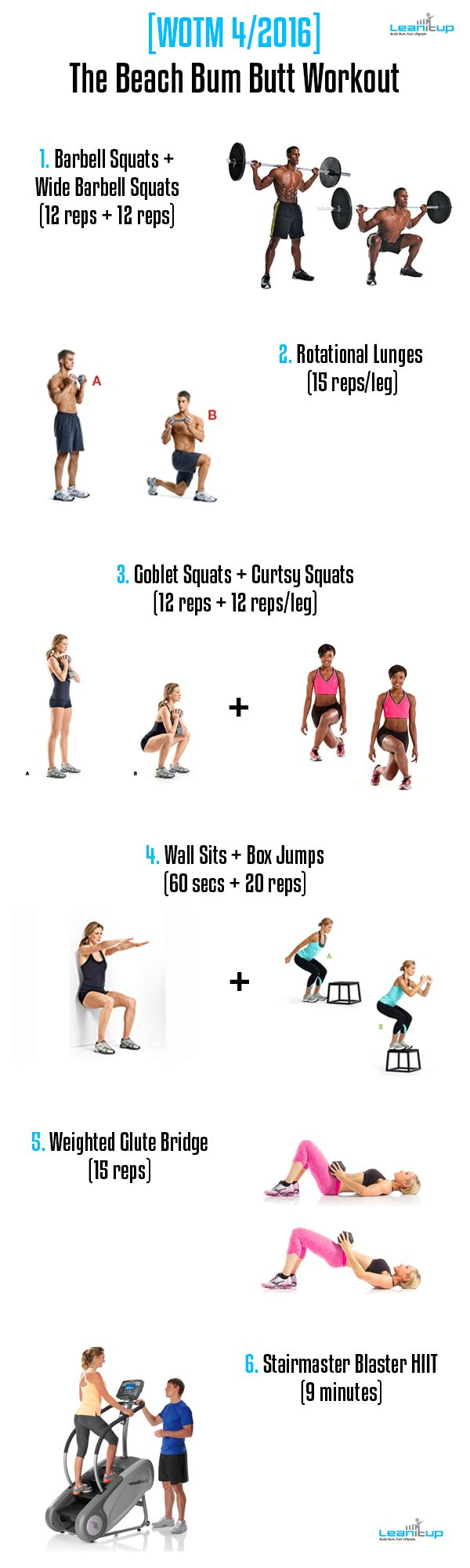 Your brand new summer BUTT workout > [WOTM 04/2016] The Beach Bum Butt Workout.  #fitness #workout #butt #fitfam