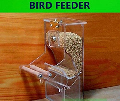 meizhouer Bird feeder Parrot Integrated Automatic feeder Sparrow Small Bird feeders Birdcage equipment The New waterer ** Details can be found by clicking on the image.Note:It is affiliate link to Amazon.