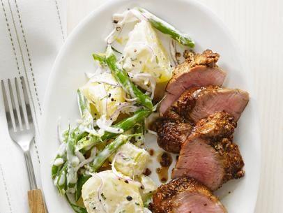 Pork with Potato-Bean Salad