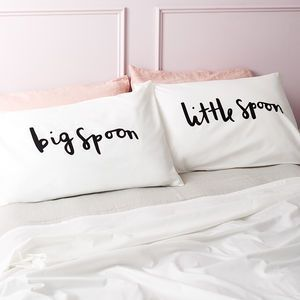 'Big Spoon Little Spoon' Pillow Cases -This Valentine's Day we've all kinds of heartfelt finds, from the UK's best small creative businesses.