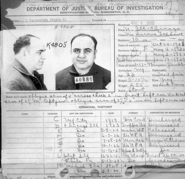 Al Capone's tax trial and downfall