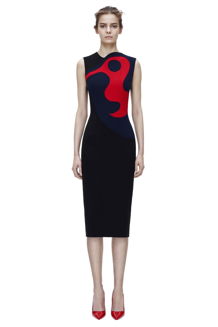 Victoria Beckham | #AW14 RTW | Sleeveless Intarsia Fitted - Perfect!