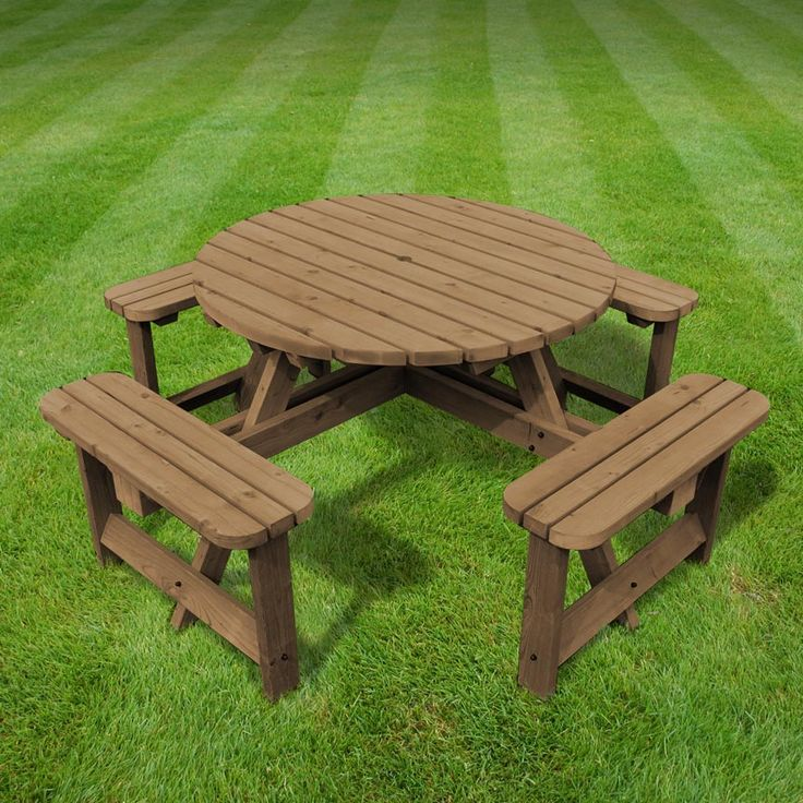 Whitwell circular bench (available in rustic brown/light green)