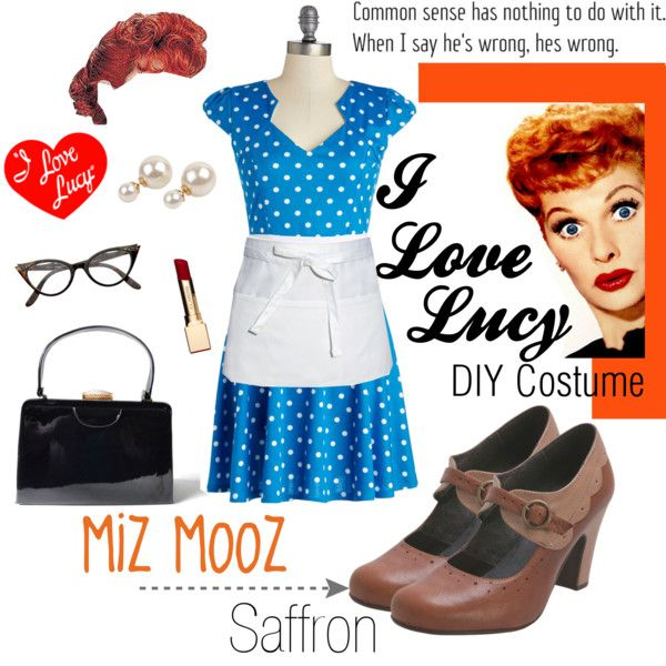 Easy I Love Lucy #costume with everything found at a #thrift store. #  sc 1 st  Pinterest & 33 best I Love Lucy Costumes images on Pinterest | Halloween prop I ...