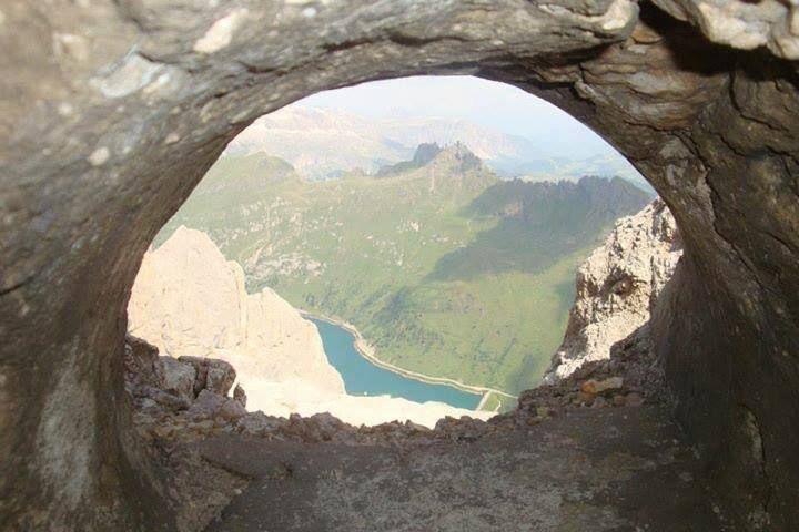 """Luca Benericetti, """"Lago Fedaia ,dalla trincea di Punta Serauta"""", #Marmolada #Canazei #TrentinoAltoAdige #escursionismo #laghi"""