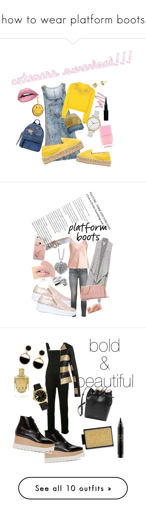 """""""how to wear platform boots"""" by millons ❤ liked on Polyvore featuring Topshop, Miu Miu, Ashley Stewart, Anya Hindmarch, Manebí, Chiara Ferragni, Skagen, Christian Dior, Givenchy and Nails Inc."""