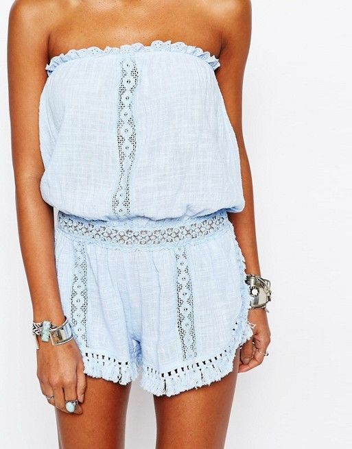 light blue beachy romper
