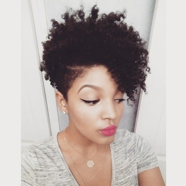 Ladies Hairstyles faux hawk hairstyles for black women Tapered Natural Haircuts For Black Women Google Search