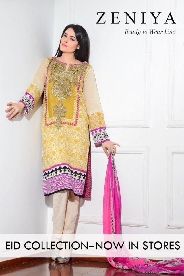 Zeniya Ready to Wear Eid Dresses 2015 http://clothingpk.blogspot.com/2015/06/zeniya-ready-to-wear-eid-dresses-2015.html