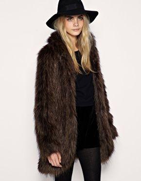 ASOS Long Hair Faux Fur Coat