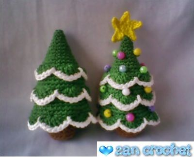 I love Christmas tree. That's why I share this pattern to you who celebrate ...