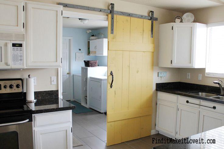 Remodelaholic | 35 DIY Barn Doors + Rolling Door Hardware Ideas