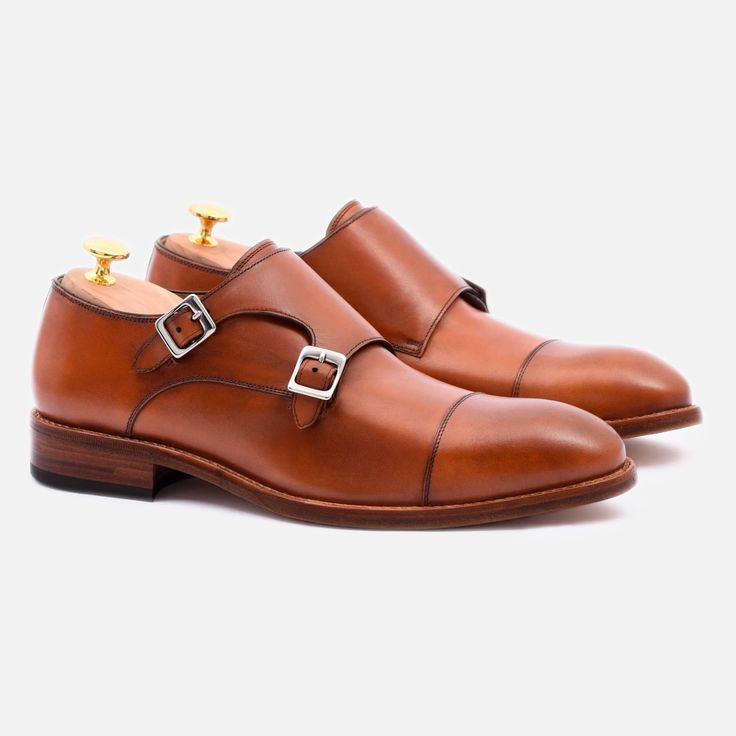 Hoyt Monk-Strap - Calfskin Leather - Tan