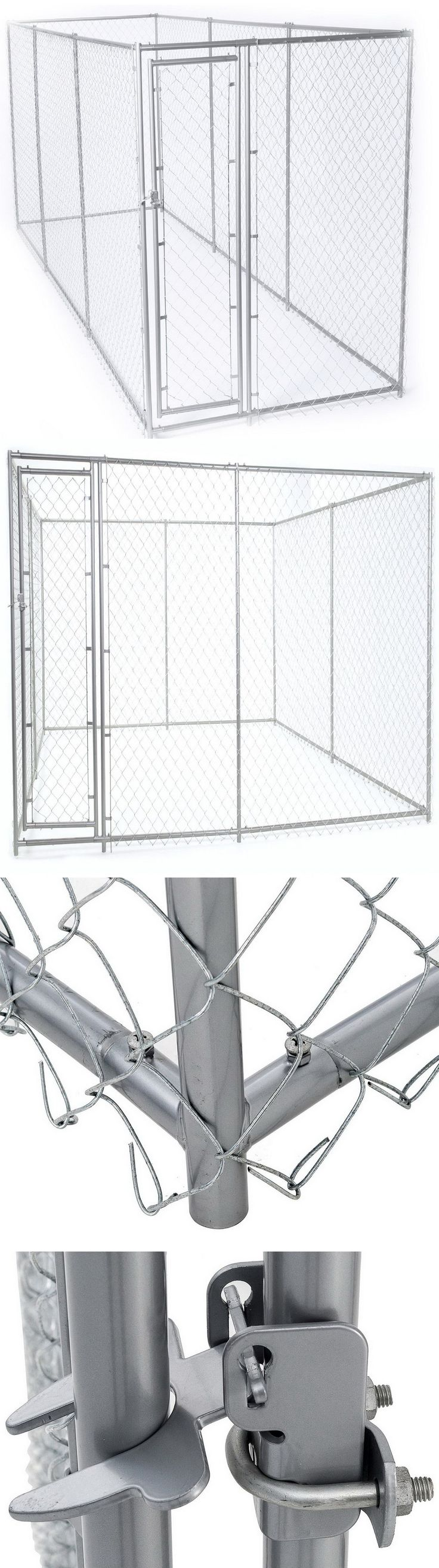 Fences and Exercise Pens 20748: New Outdoor Galvanized Chain Link Dog Kennel Steel Frame 15 X 5 Or 10 X 10 -> BUY IT NOW ONLY: $298.98 on eBay!