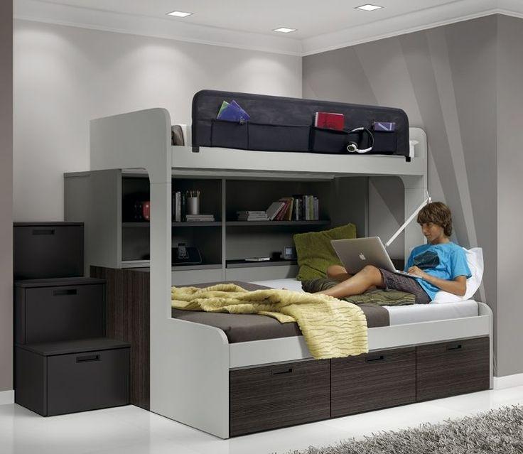 Las 25 mejores ideas sobre litera en pinterest literas - Habitaciones juveniles espacios pequenos ...