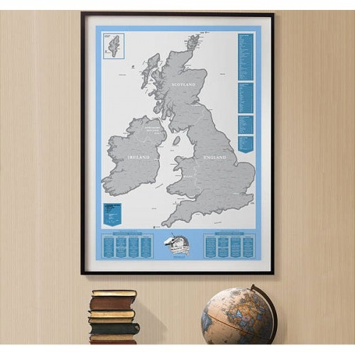 UK Scratch mapUk Editing, Maps Uk, Uk Scratch, Gift Ideas, Ireland Editing, Scratchoff Maps, Scratch Maps, Maps Room, Home Offices
