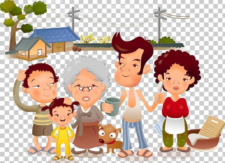 Family Cartoon Illustration Png Boy Child Conversation Family Family Reunion Family Cartoon Cartoon Illustration Illustration