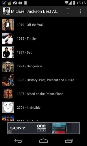 Are you looking for Michael Jackson Best Albums on Youtube? Then Michael Jackson Best Albums is for you!<p>It is an  Application which presents you the best videos for:<p><br>** On the wall (Michael Jackson Best Albums videos)<p>** Thriller (Michael Jackson Best Albums videos)<p>** Bad (Michael Jackson Best Albums videos)<p>** Dangerous (Michael Jackson Best Albums videos)<p>** HIStory : Past, Present and Future (Michael Jackson Best Albums videos)<p>** Blood on the Dance Floor (Michael…