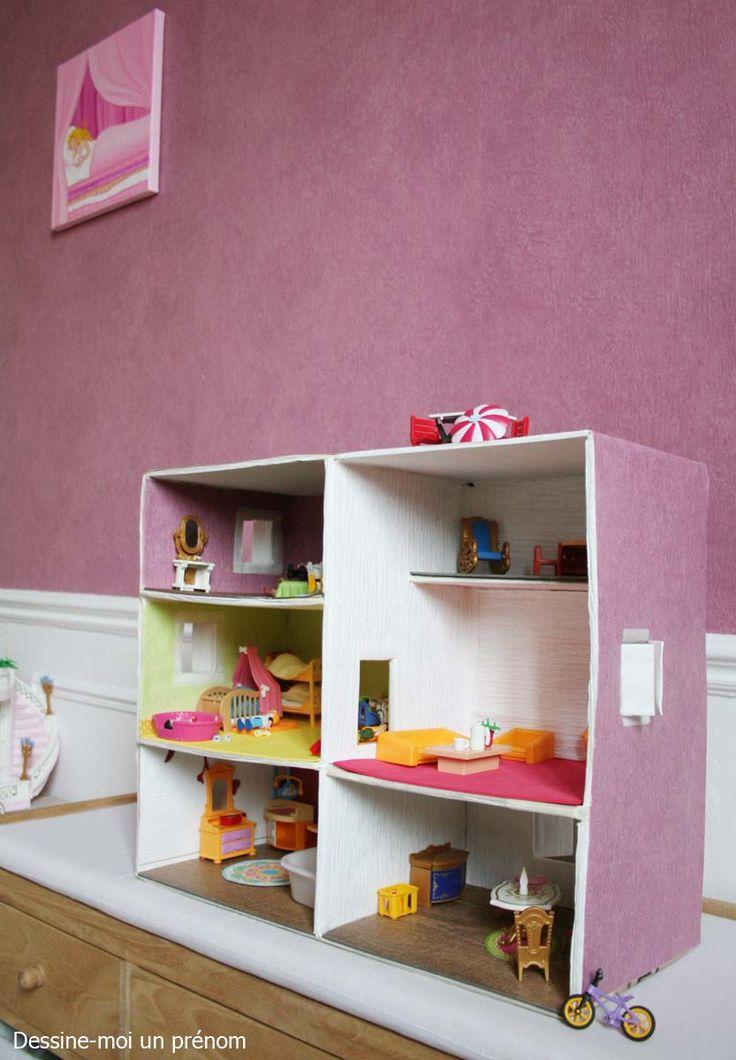 dessine-moi-un-prenom *** DIY une maison de playmobil