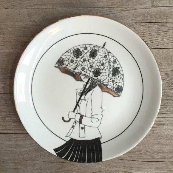 Siyah Dantel Şemsiyeli Kız Tabak | Secdus Shop