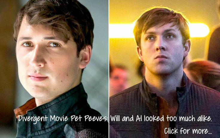 Divergent Movie Pet Peeves: I can't tell Will and Al apart! #Divergent