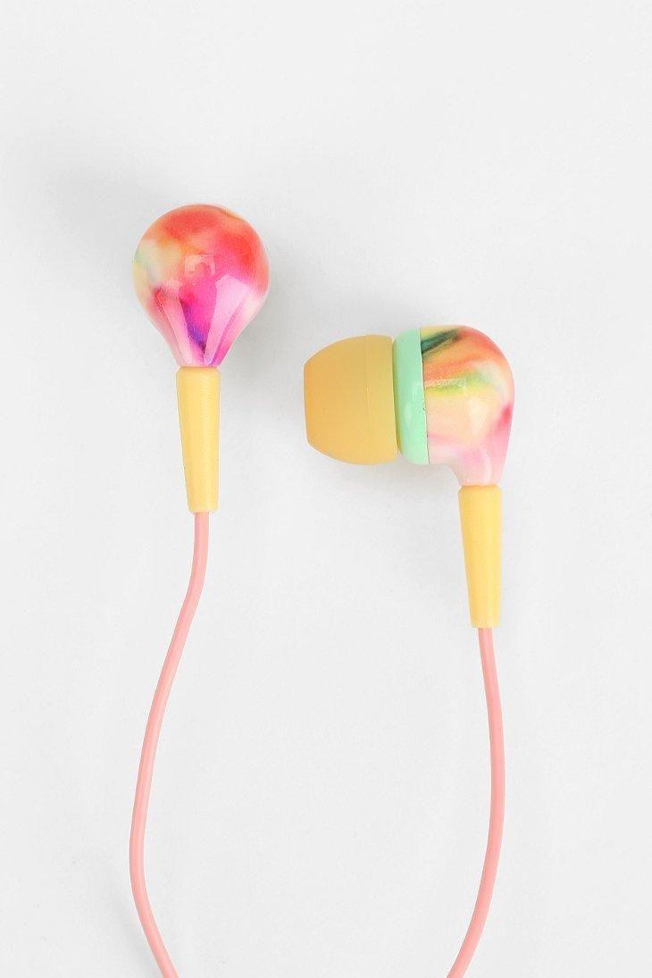 UO Printed Earbud Headphones #urbanoutfitters