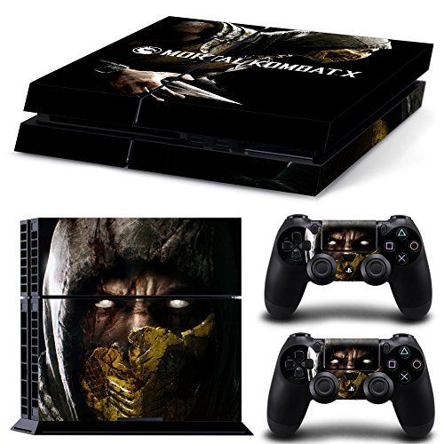 Amazon.com: CAN® Ps4 Console Designer Protective Vinyl Skin Decal Cover for Sony Playstation 4 & Remote Dualshock 4 Wireless Controller Stickers - Mortal Kombat x: Video Games