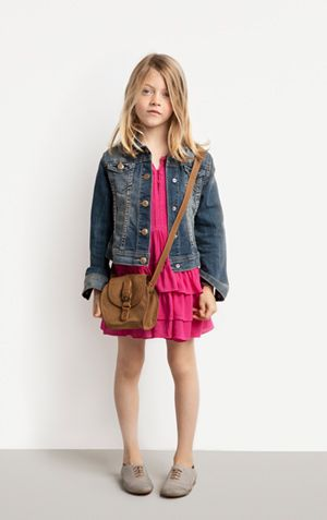 jean jacket, layered dress, crossbody bag, oxfords