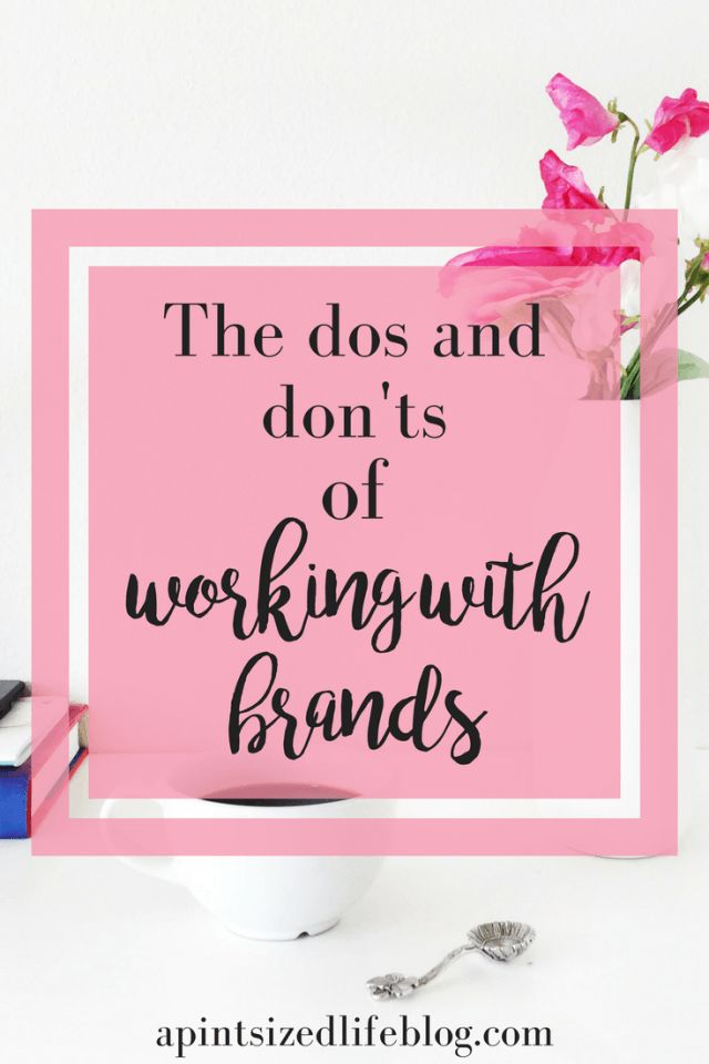 Other bloggers share their dos and don'ts of working with brands
