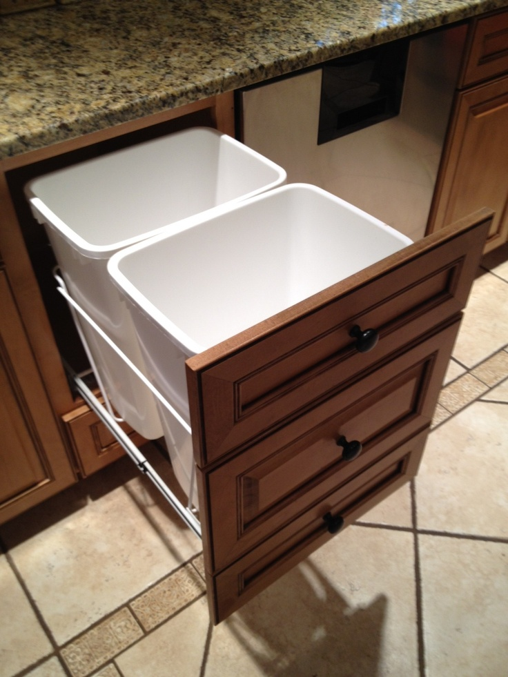 20 Best Pull Out Trash Cans Images On Pinterest Waste