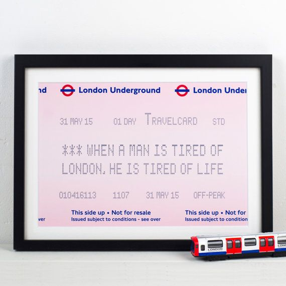 London Underground London Print London Quote by oflifeandlemons