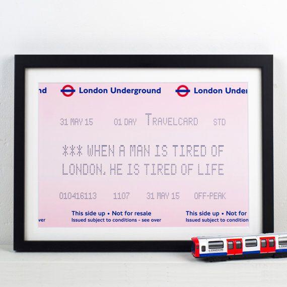 London Underground London Print London Quote by oflifeandlemons