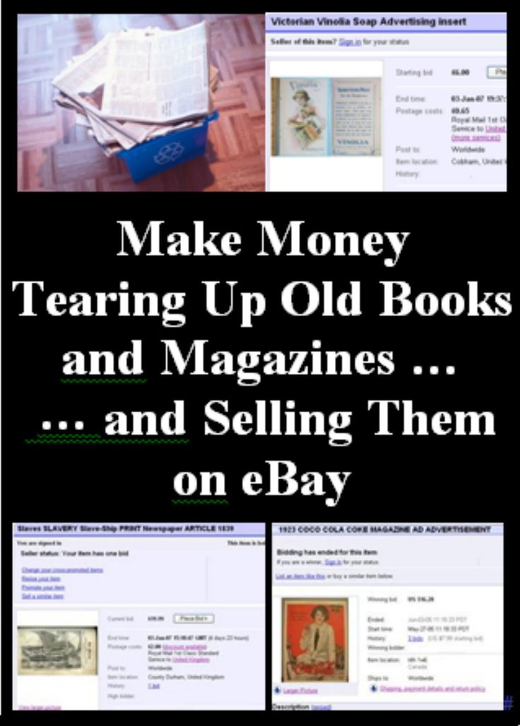 Make Money Tearing Up Old Books and Magazines and Selling the Pages on eBay