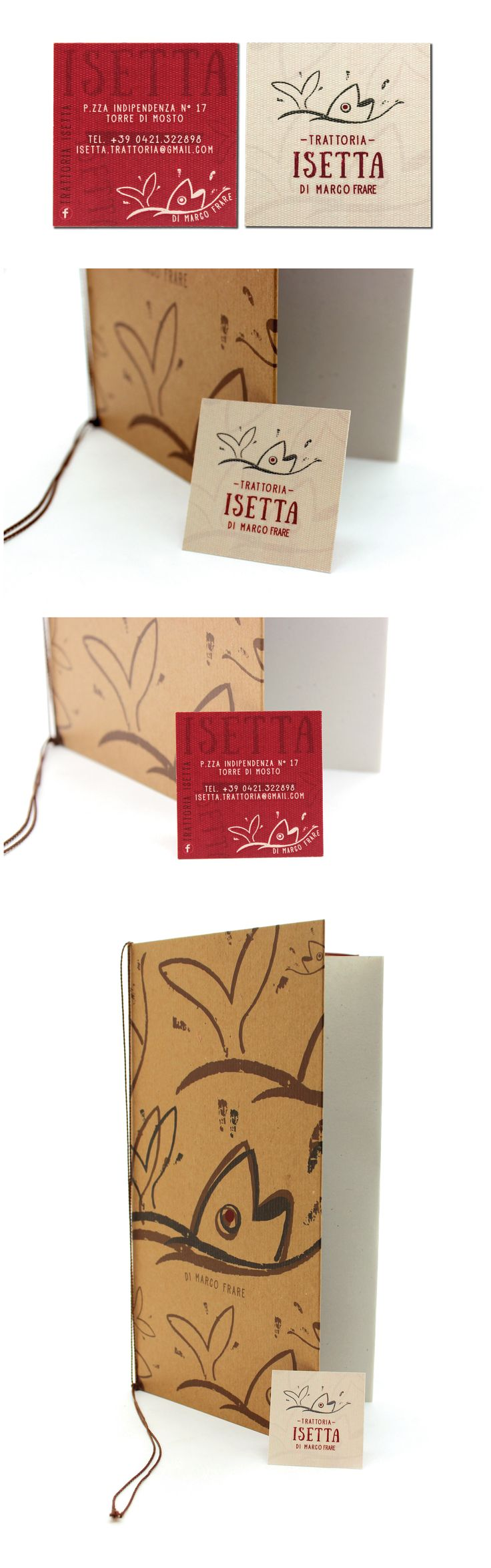 """Corporate Identity """"Trattoria Isetta"""" Restyling logo , creating menus and business cards"""