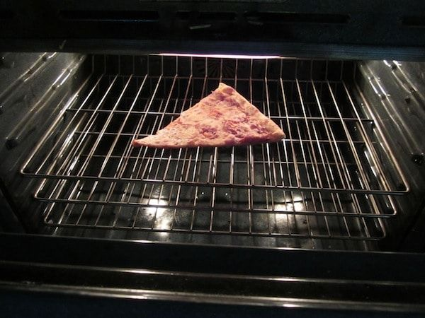 How best to reheat pizza.